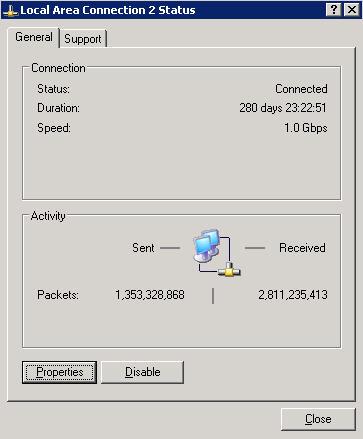 Windows-Server mit längster Uptime