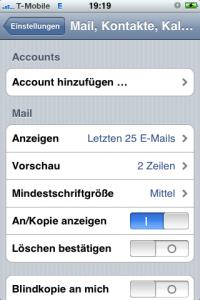 iPhone Account hinzufügen