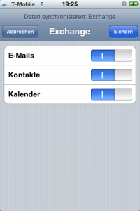 iPhone Daten Synchronisieren Exchange