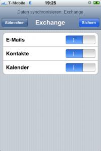 iPhone Daten Synchronisieren Exchange