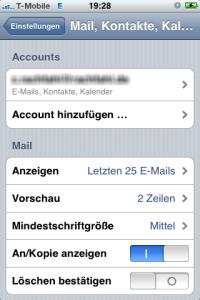 iPhone Acount hinzufügen