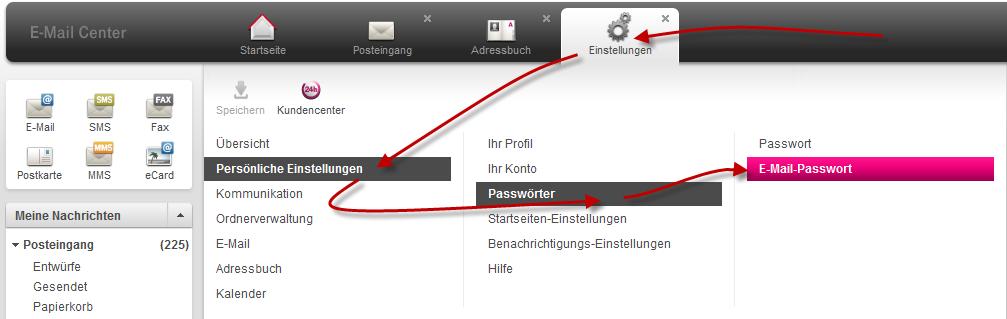 Fester: POP3-SMTP Server Zugangsdaten