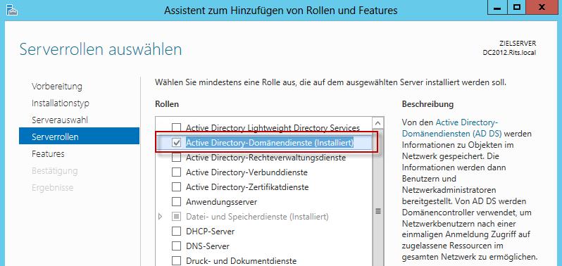Umzug einer Active Directory-Domäne von einem Small Business Server ...